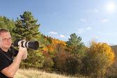 Fotograf przyrody — Zdjęcie stockowe