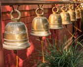 Bells outside the buddhist temple — Foto de Stock