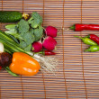 Various vegetables on a mat — Stock Photo #42293137
