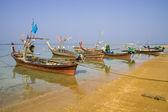 Traditional thai boats at  beach, NaiYang, Phuket. — Stock Photo