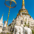 Постер, плакат: Stupa at Wat Saen Fang temple in Chiang Mai Thailand Ancient construction of public property