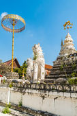 Wat Saen Fang temple in Chiang Mai, Thailand.  Ancient construction of public property — Stock Photo