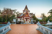 Buddism temple at Doi Mae Salong at sunset, Thailand. — Stock Photo