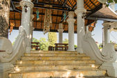 Marble staircase at the Buddhist temple, Chiang Mai, Thailand. public domain — Stock Photo