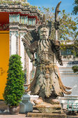 Chinese statue at the temple, Bangkok, Thailand. — Stock Photo