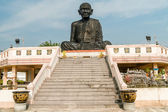 Monk statue on Wat Kaeo Manee Si Mahathat at sunny day,  Phang Nga province, Thailand — Stock Photo