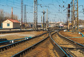 Ukrainian railway.   Kharkiv  Passenger Railway Station, Ukraine — Stock Photo