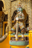 Demon Guardian, Chiang Rai province, northern  Thailand. — Foto Stock