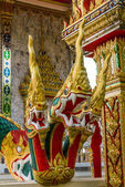 World snake, Architectural elements of  Wat Kaeo Manee Si Mahathat, Thailand — Stock Photo