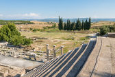 View of the surroundings of the amphitheater and Asklepieion at Pergamos, Turkey — Stock Photo