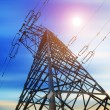 High-voltage tower sky background — Foto Stock