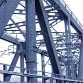 The old steel bridge — Stock Photo