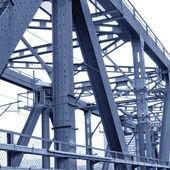 The old steel bridge — Stock Photo
