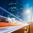 The light trails - Stock Photo