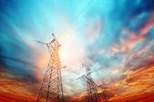 High voltage post — Stock Photo