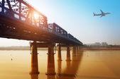 Gan River Bridge — Stock Photo
