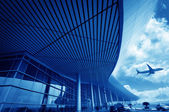 De scène van t3 luchthaven gebouw in beijing china. — Stockfoto