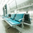 Bench in the shanghai pudong airport — Stockfoto