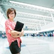 Passenger in the shanghai pudong airport — Stockfoto