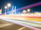 The light trails — 图库照片