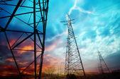 Torres de transmissão — Foto Stock