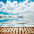 Platform beside sea — Stock Photo