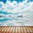 Stock Photo: Platform beside sea