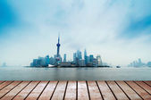 Modern city skyline ,shanghai pudong, China. — Foto de Stock