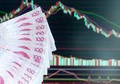 China stock market abstract — Stock Photo