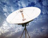 Satellite dish antennas — Stock Photo