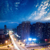 Bird view at Wuhan China — Stock Photo