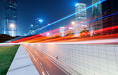 The light trails — Stockfoto