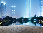 The night view of the lujiazui financial centre in shanghai china. — Stock Photo