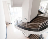 Luxury stairs of modern industrial building — Stock Photo