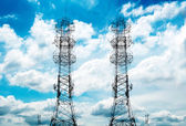 Communications Tower in the sky background — Stock Photo