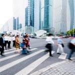 Passenger walking on the walkway at shanghai china. — Stock Photo