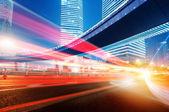 Moving car with blur light — Fotografia Stock