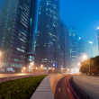 Shanghai Lujiazui Finance & Trade Zone modern city night background — Stock Photo