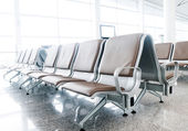 Bench in the shanghai pudong airport — 图库照片