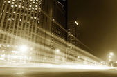 The light trails — Stock fotografie