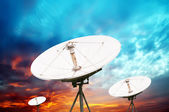 Satellite dish antennas — Stock Photo