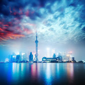 Beautiful shanghai skyline at night,China — Foto de Stock