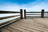 Under the blue sky,platform beside sea — Stock Photo