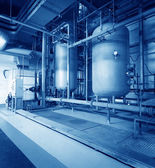 Large industrial boiler room — Stock Photo