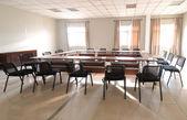Pokój spotkań biznesowych w wydział rezygnować nowoczesny ozdoba — Zdjęcie stockowe
