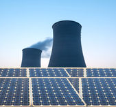 Cooling tower at nuclear power plant — Stock Photo