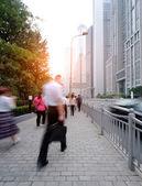 Passenger walking on the walkway at shanghai china — Stock Photo