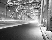 夜间交通灯 — 图库照片