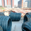 Stock Photo: Iron wires under sky for construction