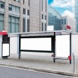 Bus stop billboard — Stockfoto